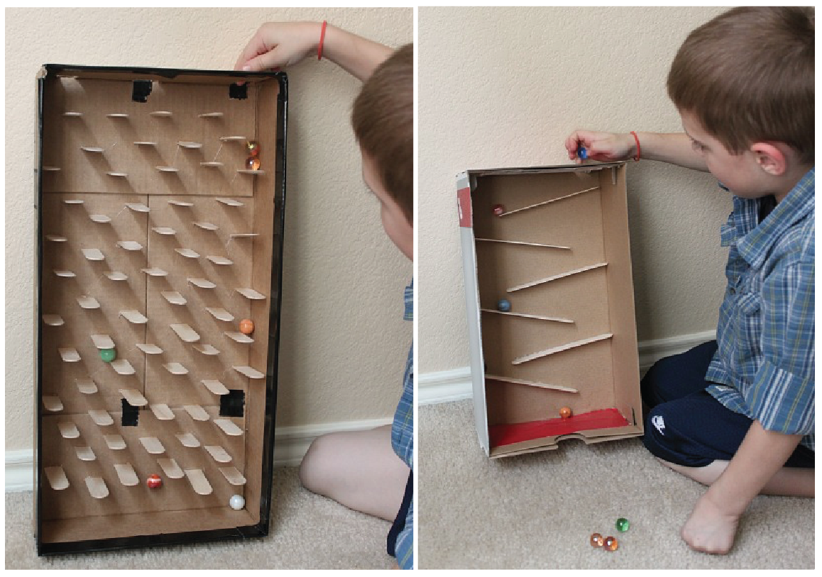 how to make a marble run out of cardboard