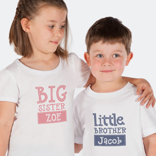 cc0dd9568 Personalised Sibling Clothing | Brother and sister shirts for kids