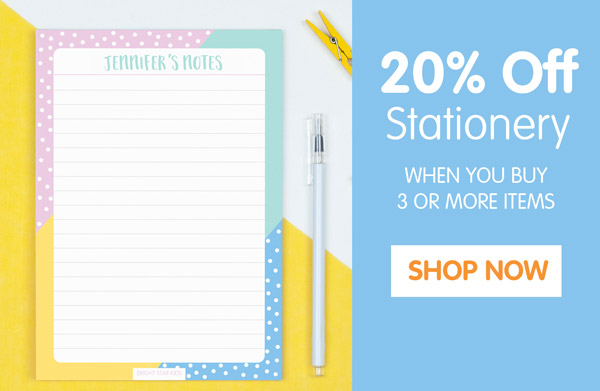 20% Off Stationery